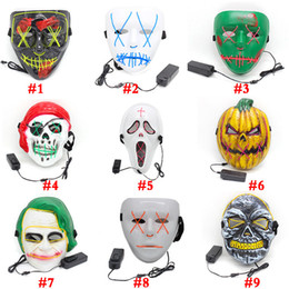 $enCountryForm.capitalKeyWord NZ - hot selling Halloween mask decorations LED Light Scary Skull Masks EL Wire Pumpkin Ghost Cosplay Party Masquerade full face Mask supplies