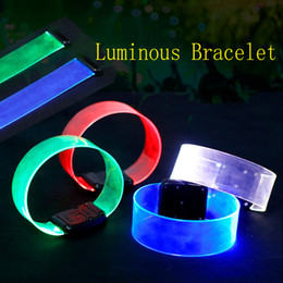 props concert supplies UK - Led Magnetic Luminous Bracelet Concert Party Get Together Supplies Party Gifts Atmosphere Props Free Shipping By DHL