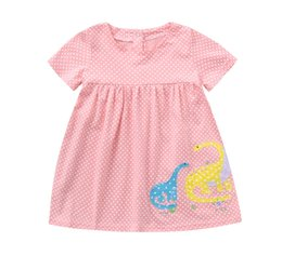 Dot Line Dress Australia - 2019 Comfortable Infant Toddler Baby Kids Girls Dress Dot Print Cartoon Dress Outfits Clothes Costume pink Rompers warm