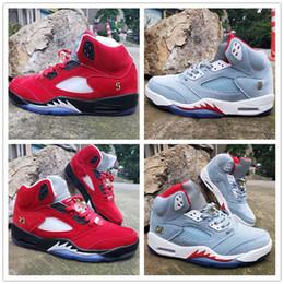 $enCountryForm.capitalKeyWord Australia - New Trophy Room x Basketball Shoes 5 Ice Blue Red Shark Designer Original Fashion Athletic Sports Sneakers Size 7.5-13