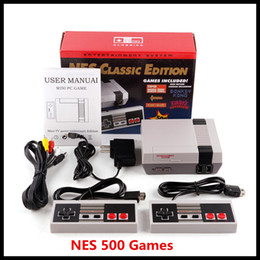 Wholesale Classic Game TV Video Handheld Console Newest Entertainment System Classic Games For 500 New Edition Model NES Mini Game Consoles free DHL