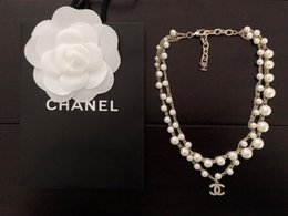 Beautiful star online shopping - Designer letter luxury Necklace with box Pearl weaving Knotting and winding chain Necklace fashion beautiful Zbd0090
