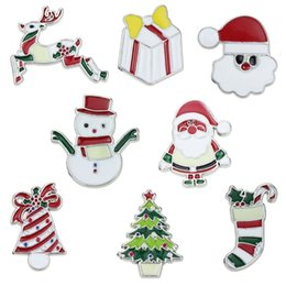 Personality brooches online shopping - Cute Santa Claus Drops Oil Badge Personality Cartoon Christmas Brooches