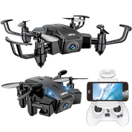 Helicopter Toys Camera NZ - Mini Drone With Camera HD Foldable RC Quadcopter with WiFi FPV Camera Altitude Hold Helicopter One Key Return Pocket Dron Toy