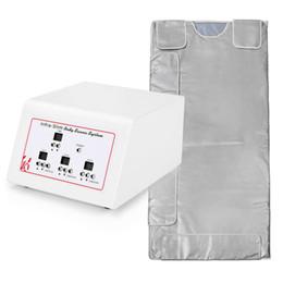 Infrared Sauna Zone UK - 3 Zones Infrared Lymph Drainage Slimming Sauna Blanket Weight Loss Detox Machine Digital Far-Infrared (FIR) Heat Sauna Blanket for sale
