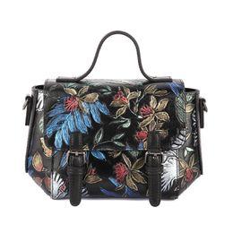 Organic Style Flowers Canada - Pink sugao new style shoulder bag women luxury crossbody bags designer casual fashion clutch handbags genuine leather flower-printed handbag