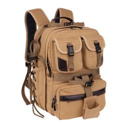 $enCountryForm.capitalKeyWord Australia - Canvas Digital Large Dslr Camera Bag Waterproof Professional Camera Travel Photo Double-Shoulder Backpack Bag