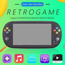 video game handheld consoles wholesale Australia - X16 7 Inch Game Console Handheld Portable 8GB Classic Video Game Player for Neogeo Arcade Handheld Game Players