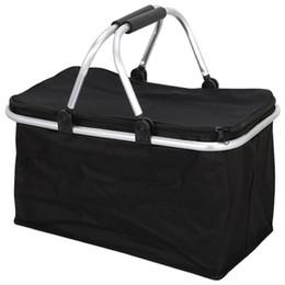 $enCountryForm.capitalKeyWord Australia - Folding Shopping Basket Travel Portable Oxford Home, Shopping, Travel, Picnic Cloth Environmental 15KG Basket
