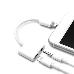Usb Audio Jack Music Australia - 2in1 Adapter 3.5mm Aux Jack Headphone Earphones Audio Splitter White Cable Charging Music For iphone 8 XS Max XR