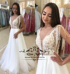 cheap winter style wedding dresses NZ - 2020 Plus Size Cheap Country Wedding Dresses A Line Lace Appliques Sequined Beaded Tassel Vestido De Novia Greek Style Bridal Gowns