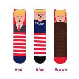 5db571186 Knitting Cotton Sock Donald Trump Middle Tube Socks Men Women Winter Knee  High 3D Print Election Medium Stockings Hot Sale 6qx hh