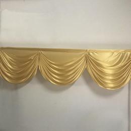 2M 3 tenda festoni backdop nozze d'oro tenda refurtiva panneggio festoni malloppo gonna piccolo tavolo per la decorazione del partito evento in Offerta