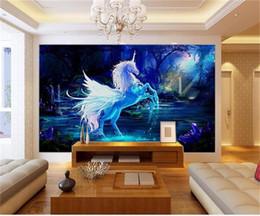$enCountryForm.capitalKeyWord UK - custom size 3d photo wallpaper livingroom bed room mural fairytale unicorn oil painting picture sofa TV backdrop wallpaper non-woven sticker