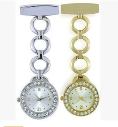 gold nurses watches Canada - Wholesale New Fashion Quartz Watch Nurse Doctor Style Plastic Band Watch Pocket Watch For Gift OEM Factory Price