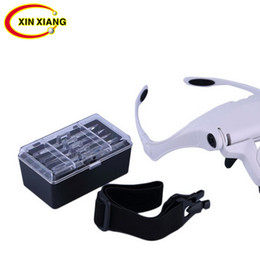 $enCountryForm.capitalKeyWord NZ - Headband 2 LED Magnifier Lamp 1x 1.5x 2x 2.5x 3.5x Head Eye Magnifying Glasses Illuminated Magnifier Loupe Free Shipping