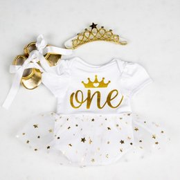 baby girl tutu dress love UK - Rompers Infant Clothing Glitter One 1st Birthday Baby Girls Love Heart Beauty Rabit Tutu Dress Jumpersuit Headband Shoes Q190518