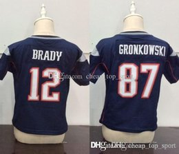 Children embroidery online shopping - Toddler Baby Stitched New Tom Brady Rob Gronkowski Blue Infant Children Patriots Jersey Preschool Kids Embroidery Logos Jerseys S L