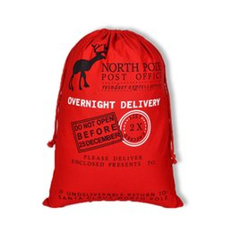 $enCountryForm.capitalKeyWord UK - Large Red Santa Gift Bag 50*70cm Xmas Pure Cotton Canvas Drawstring Bag Santa Claus Props Christmas Decoration Supplies Red Green
