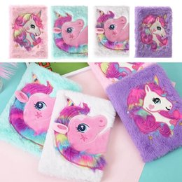 $enCountryForm.capitalKeyWord Australia - Cartoon Novelty Kawaii Unicorn Plush Notebook Notepads Mini Notepads With Free Ballpoint Pen Creative Stationery For Kids Girls Gift