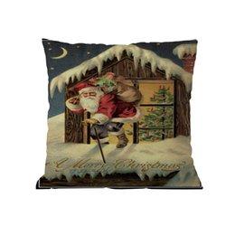$enCountryForm.capitalKeyWord Australia - Merry Christmas Pillow Cases Cushion Cover Home Decor Pillow Core Linen Soft Casual Sofa Bedroom Home Office Decorative Pillows