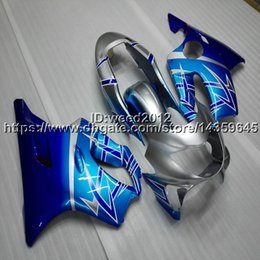Honda F4 Australia - 23colors+Custom Injection mold blue motorcycle cowl for HONDA CBR600F4 1999-2000 CBR 600 F4 ABS motorcycle Fairings