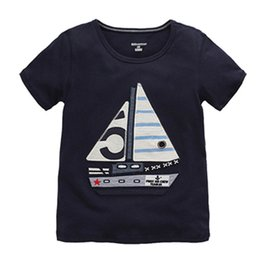 Cute Baby Tees Australia - Summer Baby Boys T Shirt,cute Cartoon Embroidered Patches,cotton Kids Tops Tees,new Clothing Style Childer's Clothes(1-6 Yrs) J190529