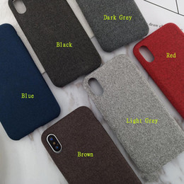 $enCountryForm.capitalKeyWord NZ - Luxury Plush Fabrics Soft Back Cover For iPhone 7 Case Cotton Linen Cloth Phone Cases For iPhone X 8 Plus XR XS Max