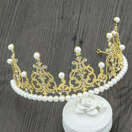 Discount gold cupcake toppers - 1PC Princess Crown Gold Giltter Cake Topper Kids Baby Boy Girl Party Decoration Cupcake Toppers