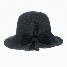 dc6ed75d5d3 1 Pcs New Arrival British style Fashion Elagent Women Spring Autumn Winter  warm Cap Ladies Flower Rose Bucket Hat