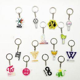 $enCountryForm.capitalKeyWord Australia - Kpop Exo Wanna One Got7 Winner Iu Twice Seventeen Keychain Finger Button Mobile Phone Bracket Wholesale Key Ring Chain Fans Gift