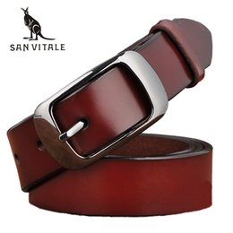 Leather Belts For Buckles Australia - SAN VITALE New Designer Fashion Women's Belts Genuine Leather Brand Straps Female Waistband Pin Buckles Fancy Vintage for Jeans C19010301
