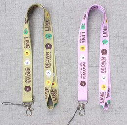 phone lanyard keys id neck straps Canada - Brown bear with Cony rabbit cartoon Cell Phone Neck Lanyard Neck Straps for Smartphone Key ID Card Keychain