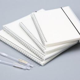 Notepad Australia - Spiral Loose-leaf Blank Sketchbook Notebook for Sketch Drawing Frosted Transparent Stripe Grid Notepad Planner Office School