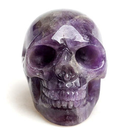 hot natural healing crystals Australia - Hot sale!Natural Banded Chevron Dream amethyst quartz crystal skull to heal Reiki Crystal Stone Free shipping