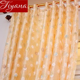 luxury blinds curtains 2019 - Bird Nest Luxury Sheer Curtain for Living Room Embroidered Voile Curtain Drape Rustic Blinds Custom Made X586 #30 cheap