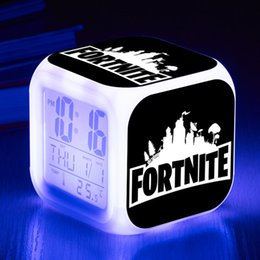 Round desk clocks online shopping - 82 Styles Fortress night Battle Royale Multifunction Digital Desk Alarm Clock with LED Touch Light Desk Watch Fortress Game Clock Christmas