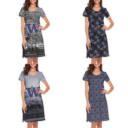 $enCountryForm.capitalKeyWord Australia - Womens design printing designNameGS white lounge shirt dress make a band slim fit loungewear cute biker baseball college nighties for