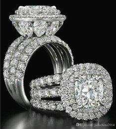 Silver Emerald Jewelry Australia - Victoria Wieck Stunning Luxury jewelry Couple Rings 925 Sterling Silver Pear Cut Sapphire Emerald Multi Gemstones Wedding Bridal Ring Set