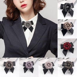 brooches for hair Australia - Free DHL Elegant Wool Blend Camellia Flower Brooch Vintage Bow Floral Pin Women Hair Clip 12 Styles for Choose