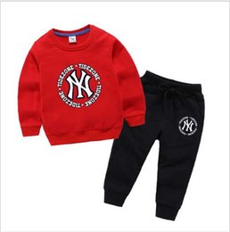 Brand Clothes Kids Dress Australia - brand new hoodie Baby Boys And Girls Suit Brand Tracksuits 2 Kids Clothing Set Hot Sell Fashion Spring Autumn Children's Dresses Long Sleeve