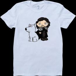 $enCountryForm.capitalKeyWord Australia - Stewie Griffin Jon Snow Direwolf Game Of Thrones White Custom Made Men's T-ShirtMen Women Unisex Fashion tshirt Free Shipping