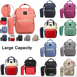 eco diaper bags NZ - Mommy Backpacks 10Styles Mother Pack Nappies Diaper Bags Camo Waterproof Maternity Handbags Nursing Travel Outdoor Bags 20pcs LJJ_A786
