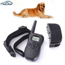Freeshipping 100LV Nível 300 metros LCD Choque Elétrico Pet Dog Training E-Collar Controle Remoto Anti-Bark venda por atacado