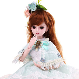 $enCountryForm.capitalKeyWord Australia - 60cm dress up foreign BJD doll set big gift box joint girl toy