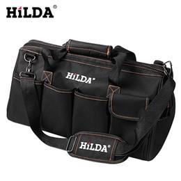 $enCountryForm.capitalKeyWord Australia - HILDA Tool Bags Waterproof Men Crossbody Electrician Bag Hardware Large Capacity Bag Travel Bags Size 12 14 16 18 Inch
