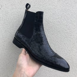 $enCountryForm.capitalKeyWord Australia - 2019 New Product High Quality Outdoor Fashion Show Male Footwear Elastic Band Round Toe Low-heeled Shoes Men Ankle Boots