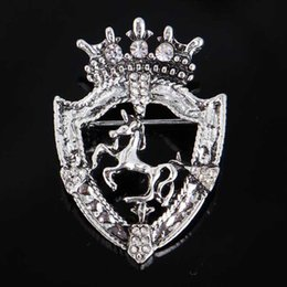 Fashion scarF clip online shopping - New Fashion Gold Silver Horse Brooches Crystal Rhinestone Corsage Scarf Clips Women Suit Coat Accessories Jewelry