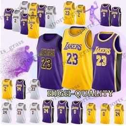 d9086eda4ba 18 19 Los Angeles Jerseys Lakers 23 LeBron James Kobe 24 Bryant Lonzo 2  Ball Kyle 0 Kuzma Brandon 14 Ingram Jersey Adult shirt