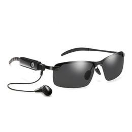 Wireless Sports Mp3 Australia - New wireless Bluetooth sunglasses Bluetooth headset sunglasses stereo wireless sports headphones hands-free headset mp3 music player